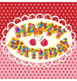 Happy birthday letters are made of different gift vector
