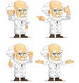 Scientist or professor customizable mascot 12 vector