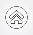 Home outline symbol dark on white background logo vector