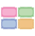 Color labels tags cards set vector