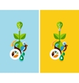 Flat design nature concept green energy vector