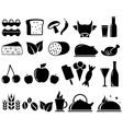 Set food objects vector