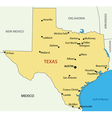 Texas - map vector
