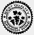 Grunge stamp quality label for spanish wine vector
