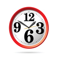 Clock in red part two vector