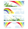 Summer natural banners vector