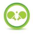 Tennis rackets volumetric icon vector