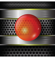 Red glass sphere vector