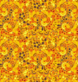 Seamless plant and flowers pattern vector