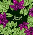 Tropical flowers design vector