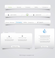 Web site navigation menu pack vector