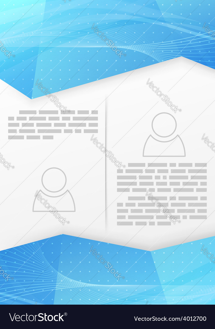 Abstract blue wave crystal brochure template vector | Price: 1 Credit (USD $1)