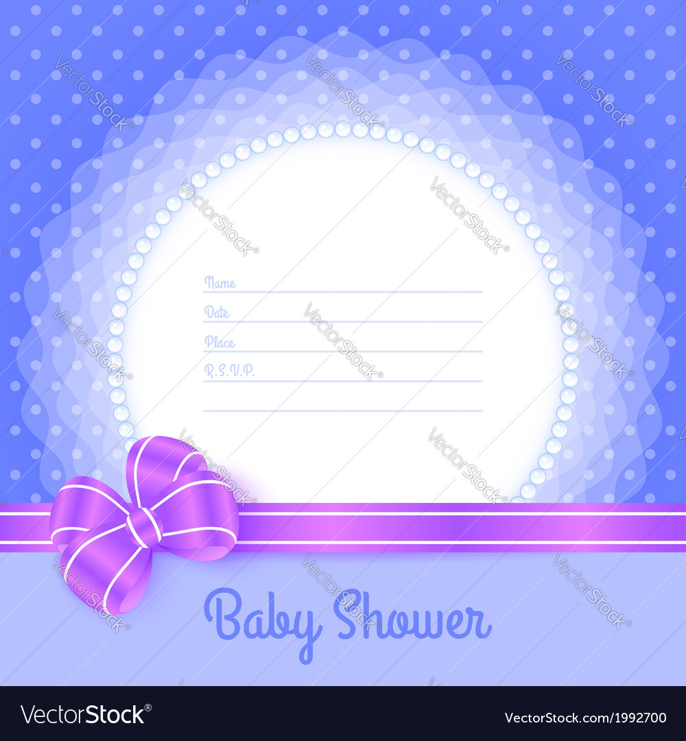 Card template for baby shower vector | Price: 1 Credit (USD $1)