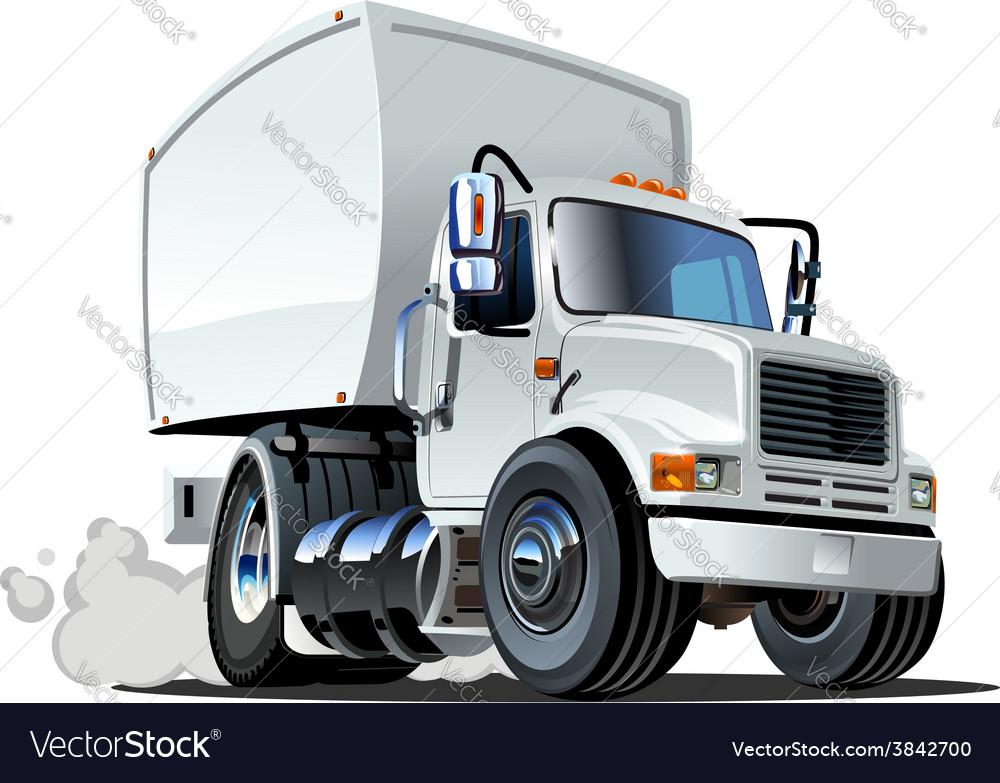 Cartoon delivery cargo truck vector   Price: 5 Credit (USD $5)