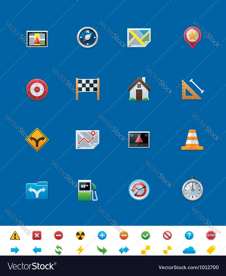 Gps navigation icons vector | Price: 3 Credit (USD $3)