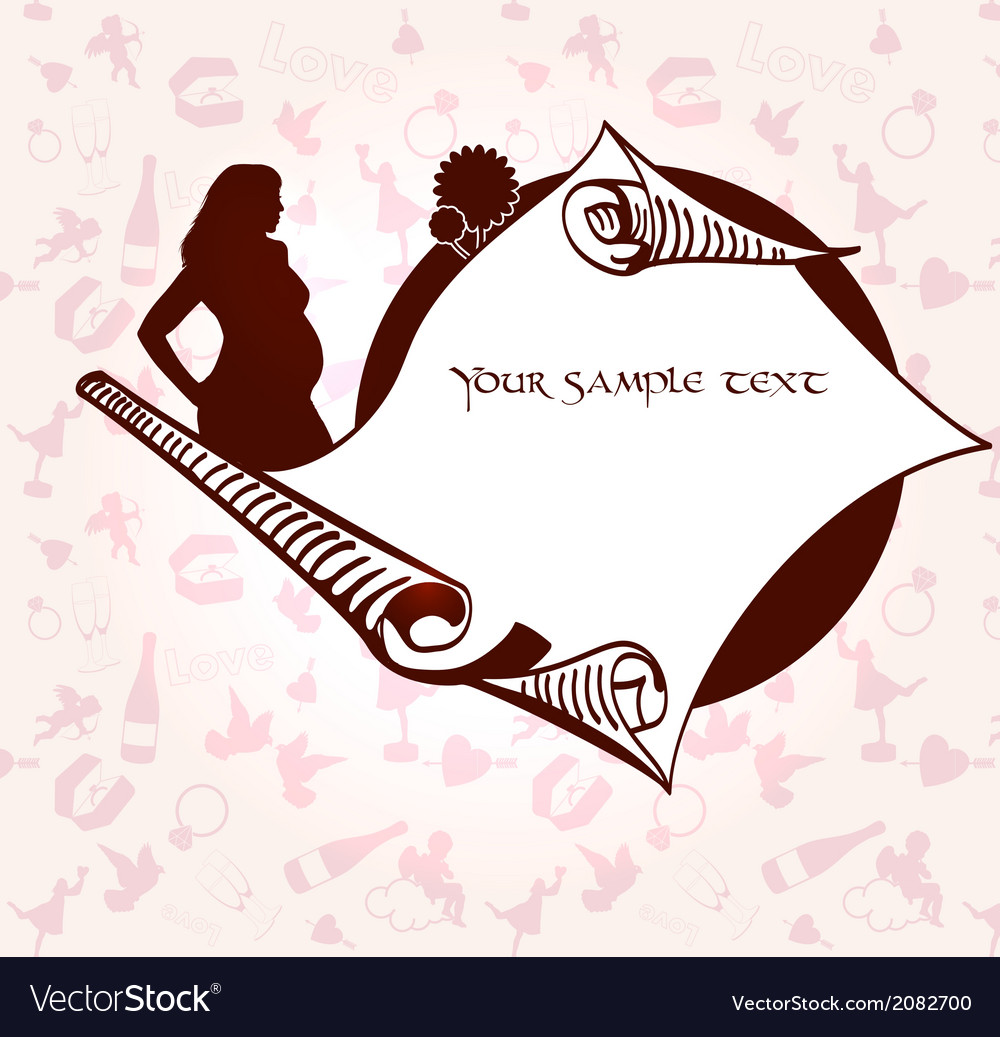 Romance and pregnancy medallion vector | Price: 1 Credit (USD $1)