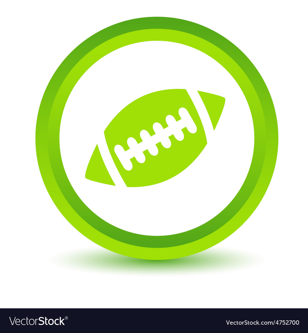 Rugby ball volumetric icon vector | Price: 1 Credit (USD $1)