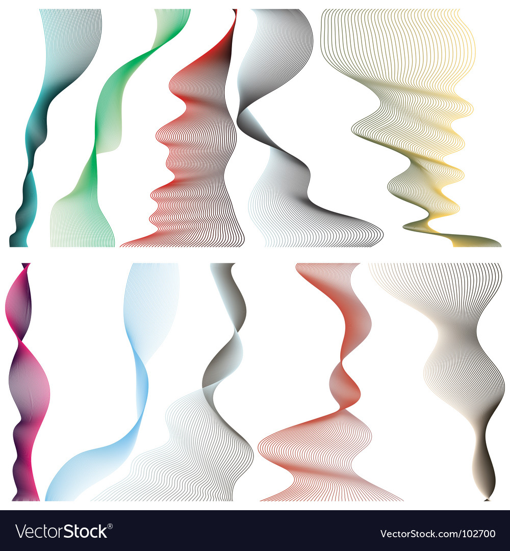 Set of linear banners vector | Price: 1 Credit (USD $1)