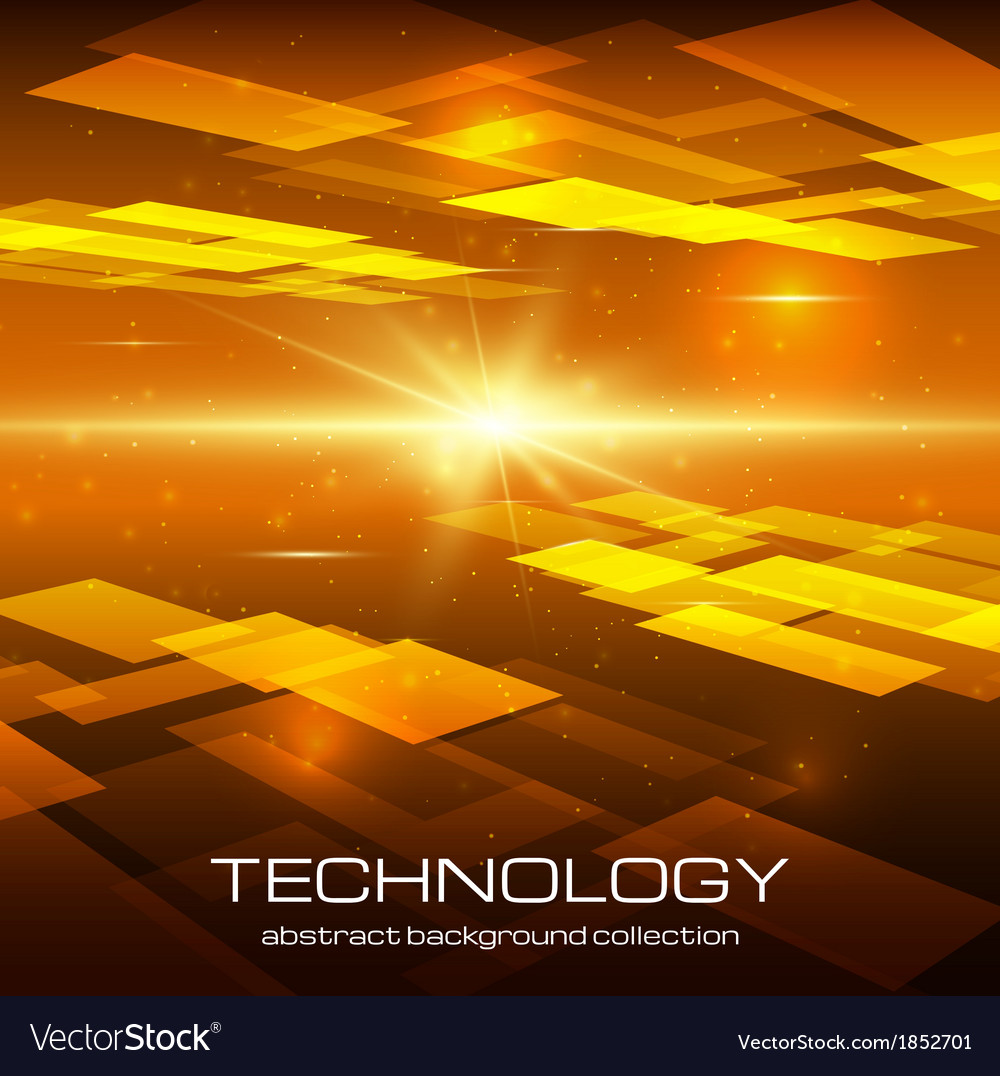 Abstract yellow technology background vector | Price: 1 Credit (USD $1)