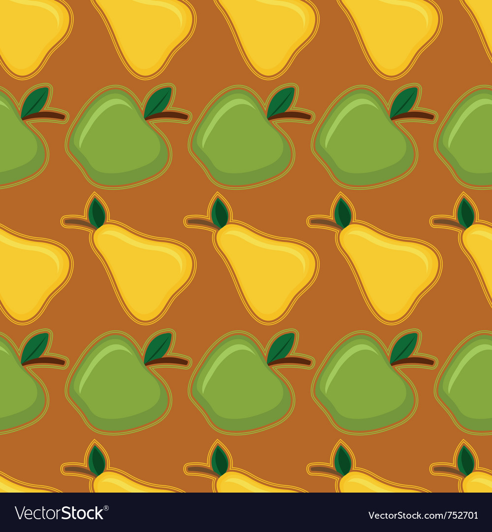 Apple and pear seamless pattern vector | Price: 1 Credit (USD $1)