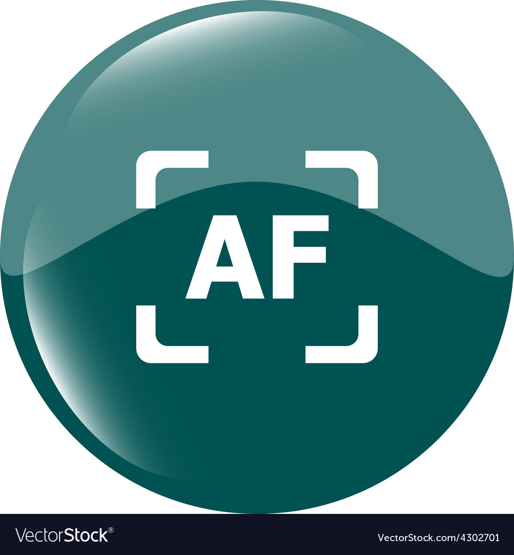 Autofocus photo camera sign icon af settings vector | Price: 1 Credit (USD $1)