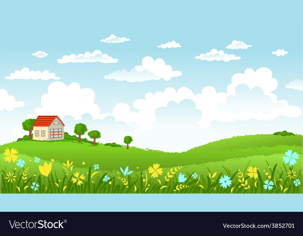 Beautiful landscape vector | Price: 3 Credit (USD $3)