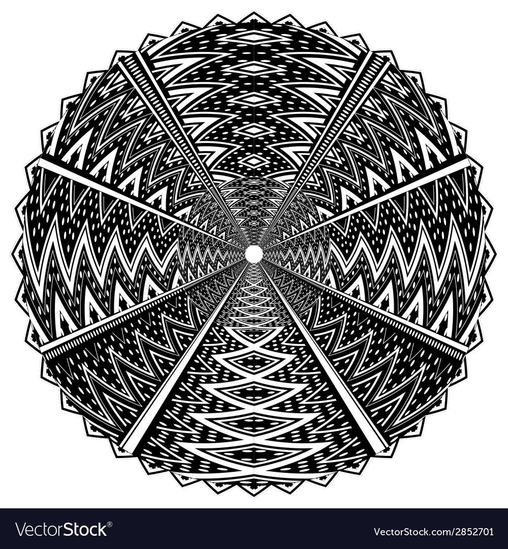 Black and white round ornament vector   Price: 1 Credit (USD $1)