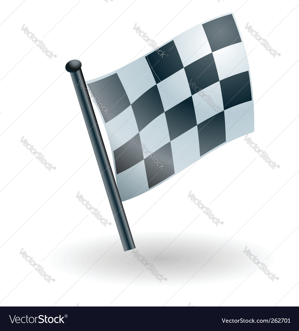 Checked checkered flag vector | Price: 1 Credit (USD $1)