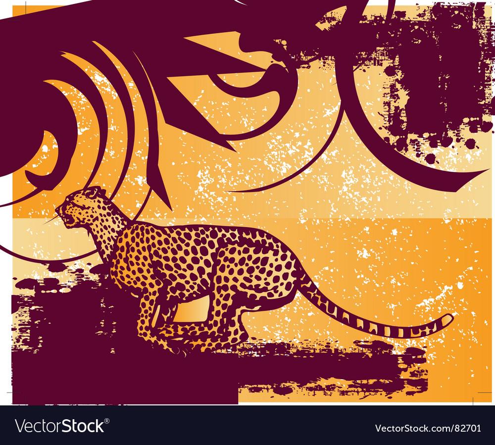 Cheetah vector | Price: 1 Credit (USD $1)