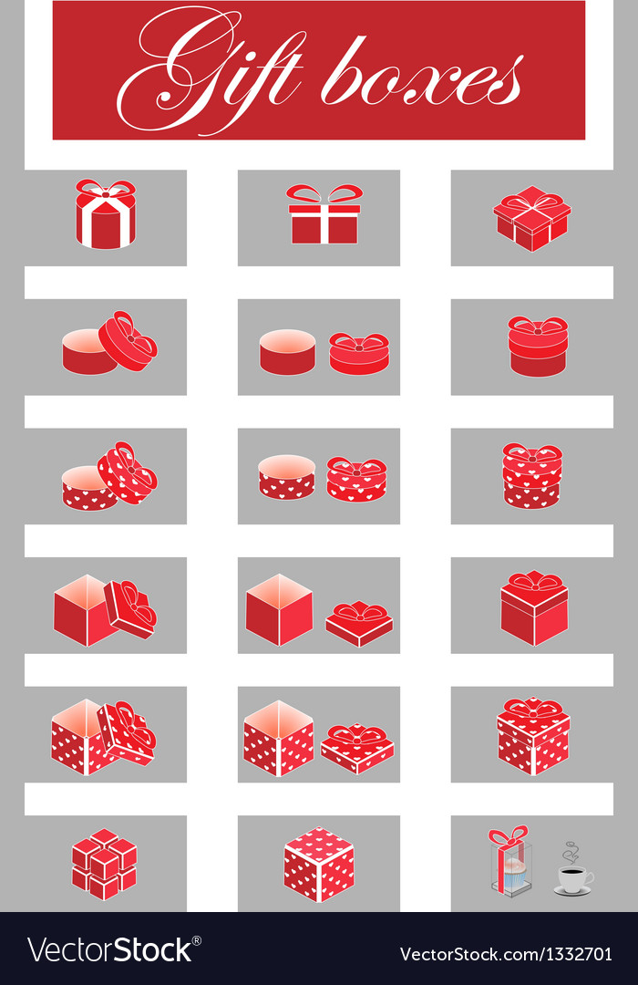 Giftboxes vector | Price: 1 Credit (USD $1)