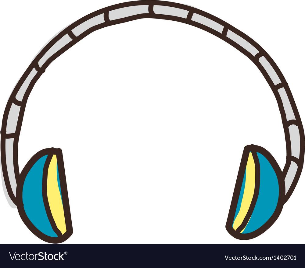 Icon headphone vector | Price: 1 Credit (USD $1)