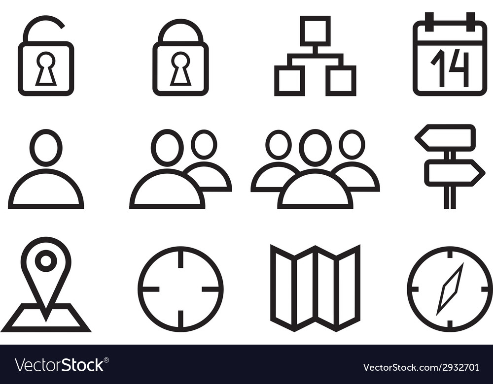 Internet icons set vector | Price: 1 Credit (USD $1)