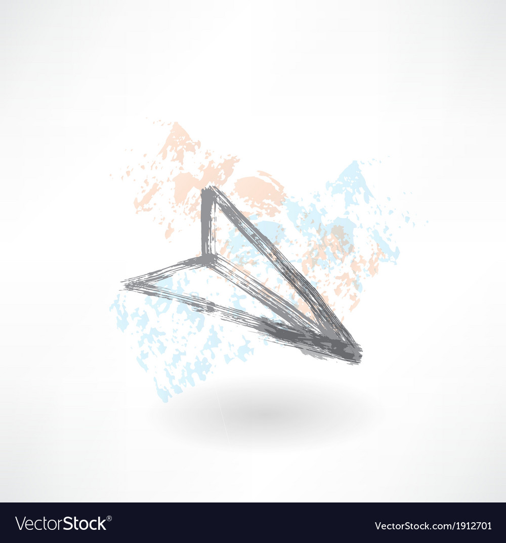 Paper airplane grunge icon vector | Price: 1 Credit (USD $1)