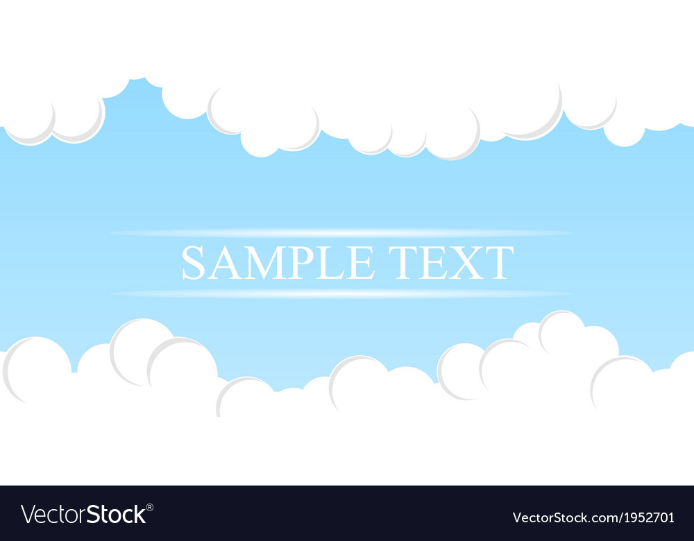 Simple sky background vector | Price: 1 Credit (USD $1)