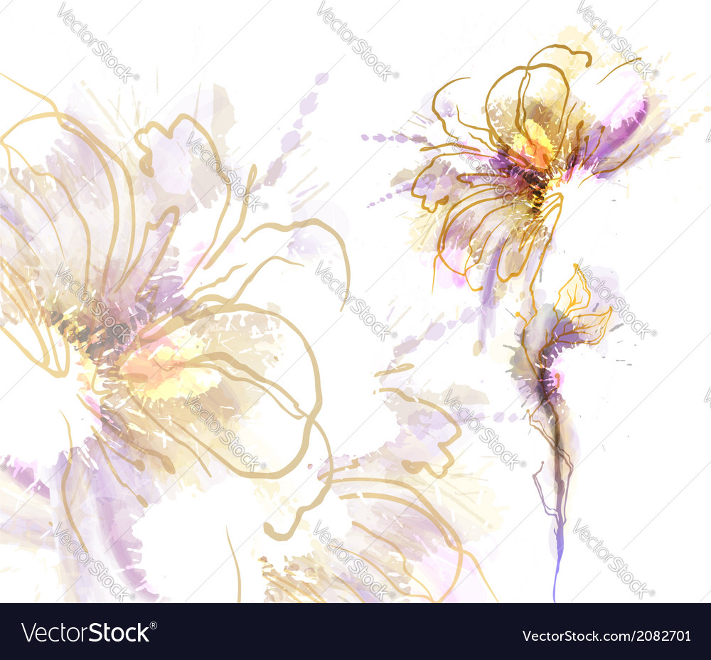 Watercolor flower vector | Price: 1 Credit (USD $1)