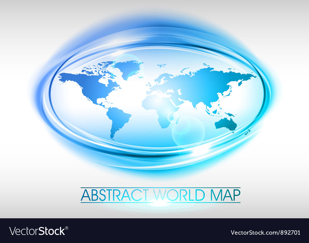World abstract circle on white blue vector | Price: 1 Credit (USD $1)