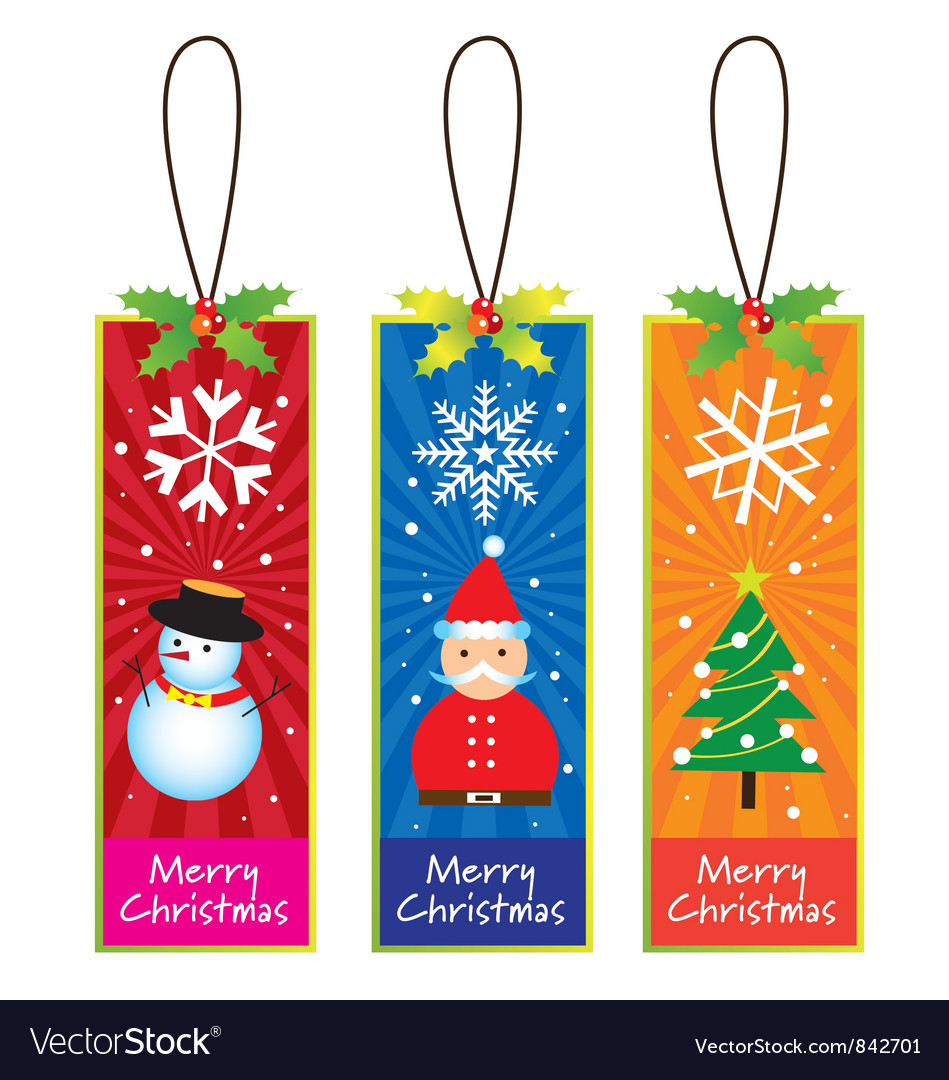Xmas bookmarks vector | Price: 1 Credit (USD $1)