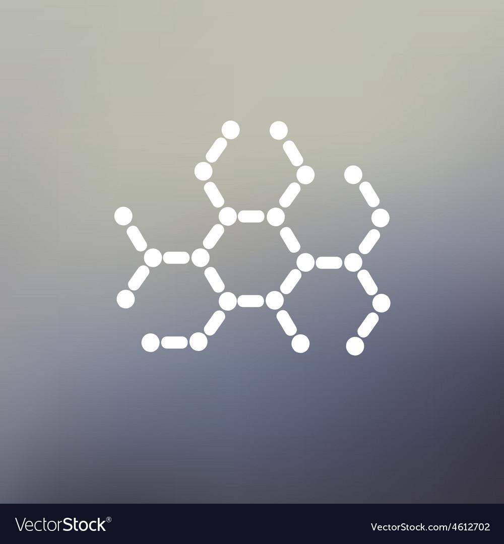 Dna molecule thin line icon vector | Price: 1 Credit (USD $1)