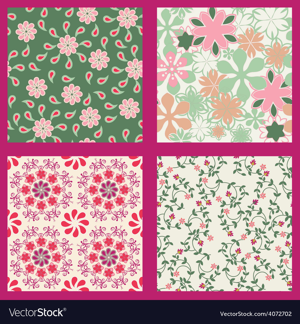 Floral set pattern summer vector | Price: 1 Credit (USD $1)