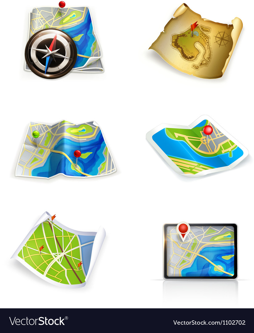 Maps set vector | Price: 3 Credit (USD $3)
