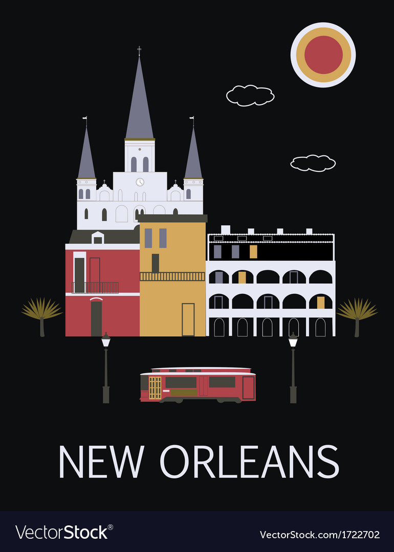 New orleans usa vector | Price: 1 Credit (USD $1)