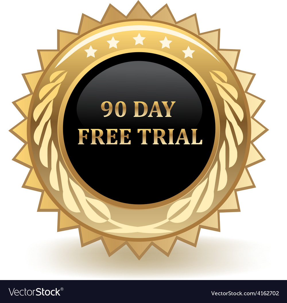 Ninety day free trail vector | Price: 1 Credit (USD $1)