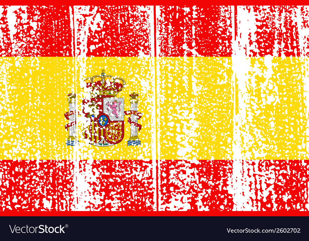 Spanish grunge flag vector | Price: 1 Credit (USD $1)