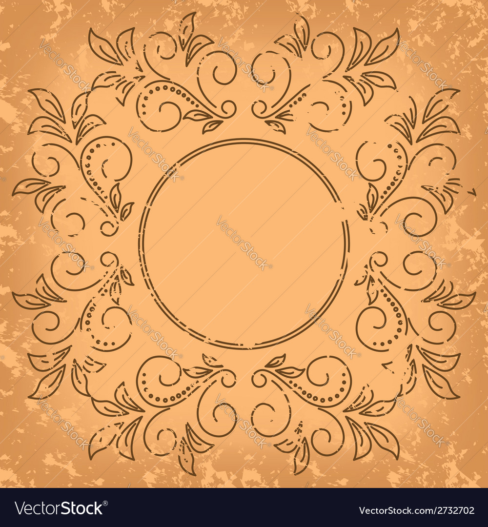 Square old card - vintage background vector | Price: 1 Credit (USD $1)