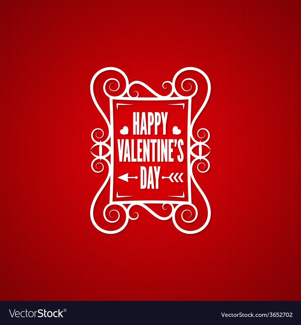 Valentines day vintage design background vector | Price: 1 Credit (USD $1)