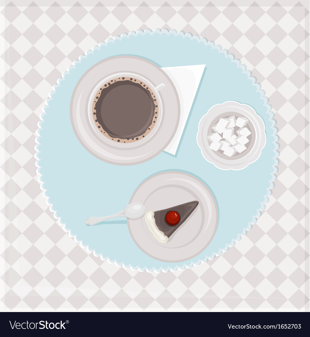 Coffee with dessert vector | Price: 1 Credit (USD $1)