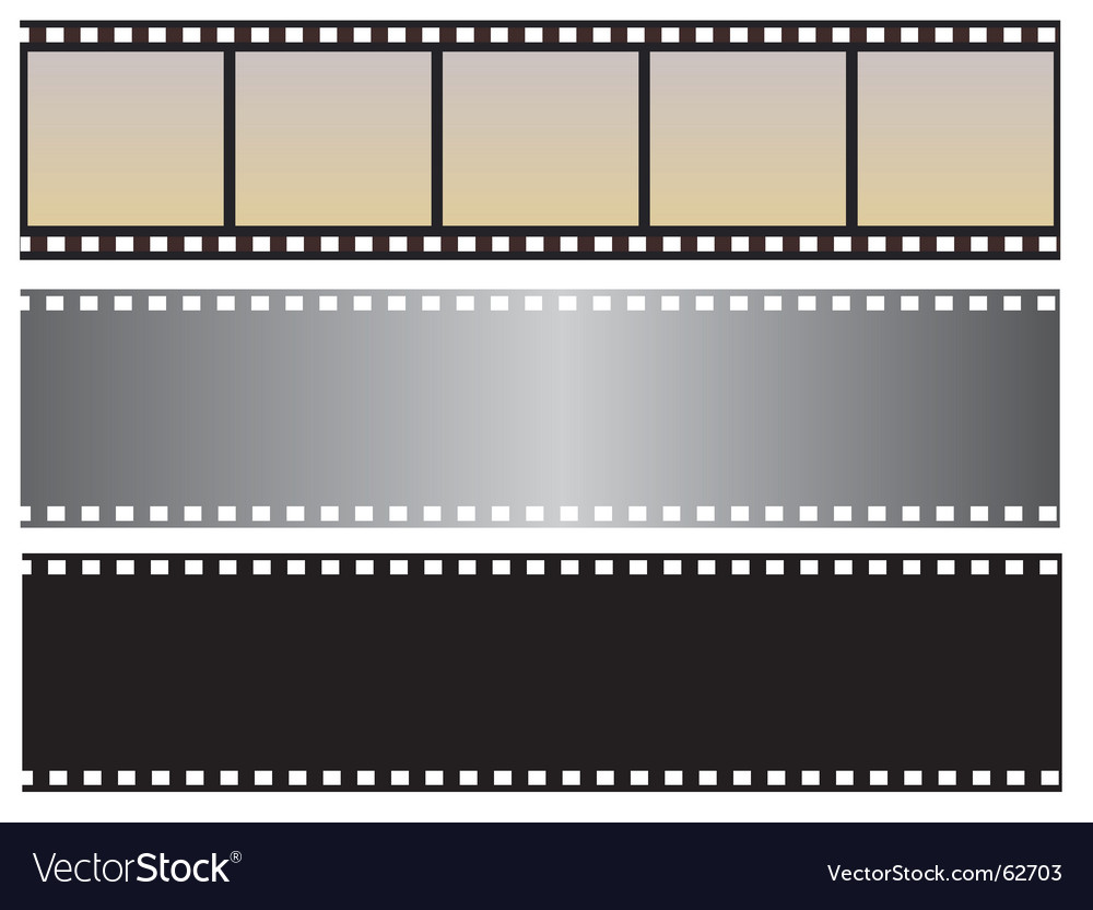 The collection of photographic film vector | Price: 1 Credit (USD $1)
