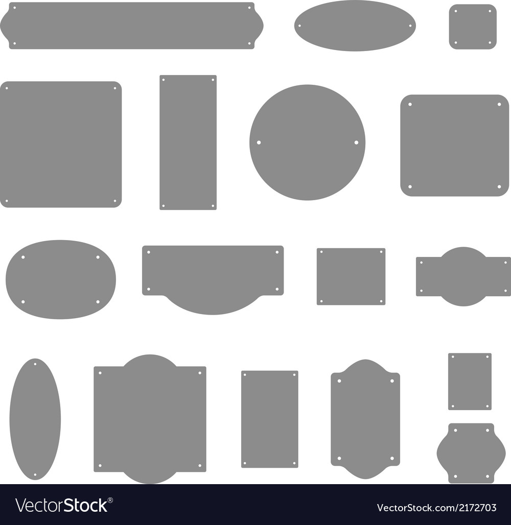 Different color bords isolated on white vector | Price: 1 Credit (USD $1)