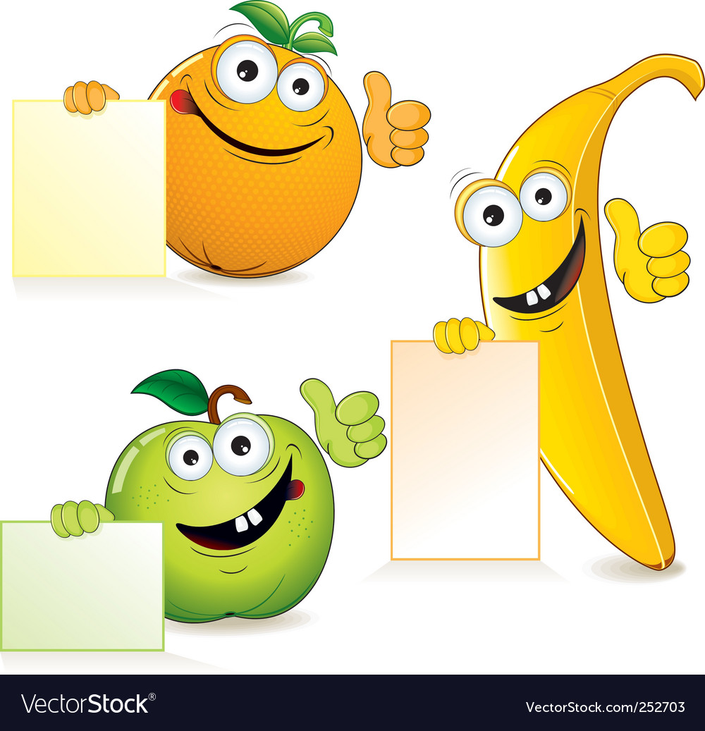 Funny fruits vector | Price: 3 Credit (USD $3)