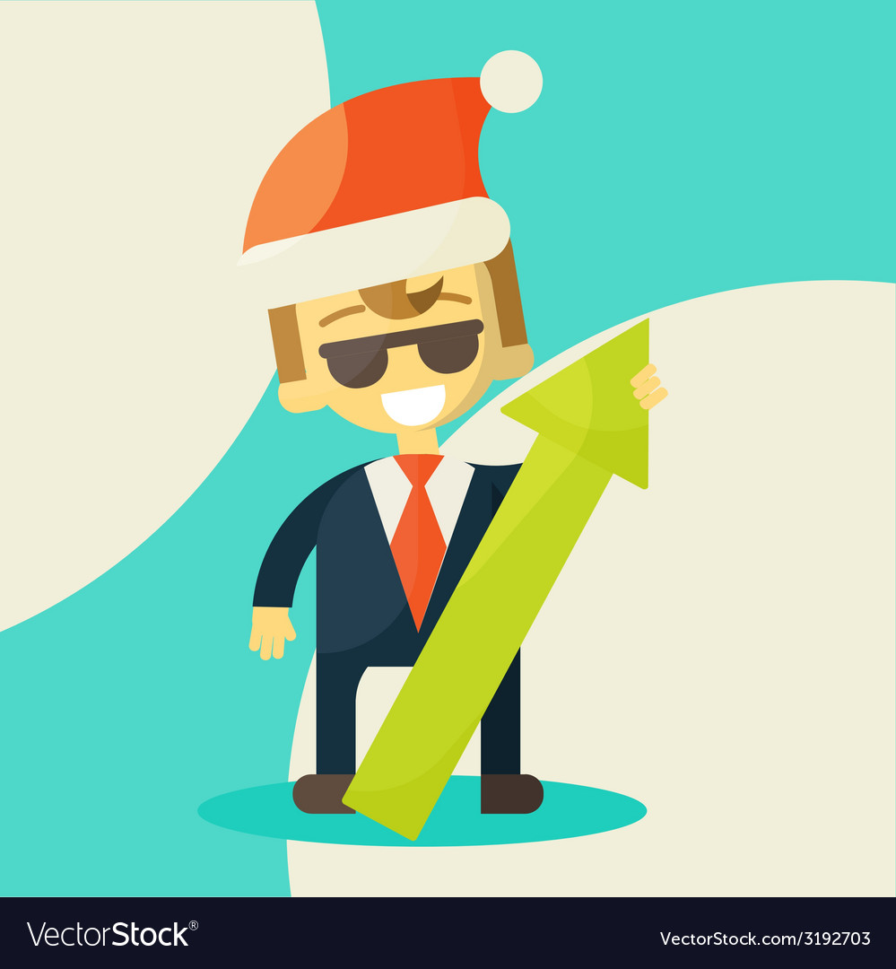 Happy businessman success in work vector | Price: 1 Credit (USD $1)